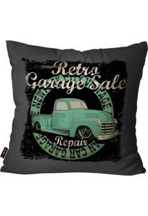 Capa De Almofada Pump Up Decorativa Avulsa Chumbo Retro Garage 45X45Cm
