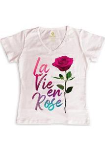 Camiseta Feminina Gola V Cool Tees La Vie En Rose - Feminino