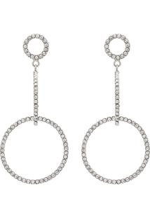 Isabel Marant Orecchini Supra Luminique Crystal Earrings - Metálico