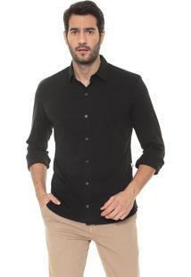 Camisa Timberland Reta Urban Comfort Preta