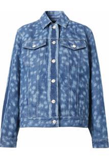 Burberry Jaqueta Jeans Com Estampa - Azul