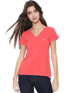 Camiseta Planet Girls Logo Bordado Laranja