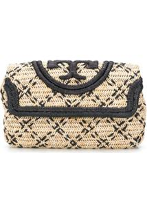 Tory Burch Clutch Com Padronagem Trançada - Neutro