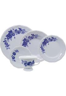 Aparelho De Jantar Schmidt Cora Em Porcelana 30 Peças