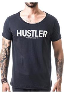 Camiseta T-Shirt Liferock Hustler Gola Canoa - Masculino-Preto