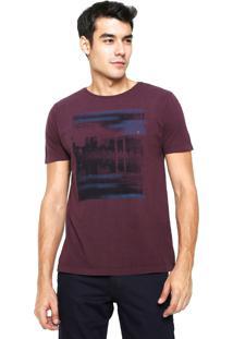 Camiseta Aramis Regular Fit Reflexo Vinho