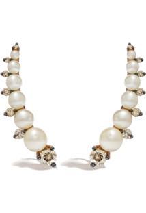 Annoushka Ear Pins De Ouro Rosê Com Diamante E Pérola - 18Ct Rose Gold