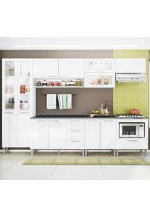Cozinha Compacta 13 Portas Emanuella 0422T Branco - Genialflex