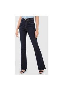 Calça Jeans Sawary Bootcut Pespontos Azul