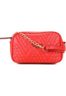 6f2cc6d87 Bolsa Luxcel Mini Bag Mulher Maravilha Tachas Feminina - Feminino-Vermelho