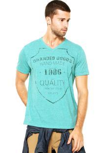 Camiseta Colcci Gola V Verde