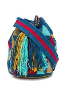 Folkloore Bolsa Bucket Colombian - Azul