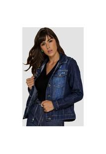 Jaqueta Jeans Zayon Tradicional Azul