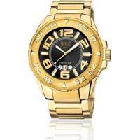 f9c42783679 Relógio Analógico Everlast Masculino E626 Cx E Pulseira Aço - Masculino -Dourado+Preto