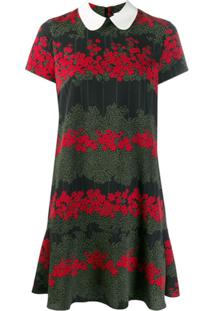 Red Valentino Vestido Com Estampa Floral - Preto