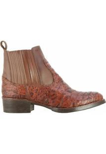 Botina Hb Agabê Boots Em Couro Escamada Bettarello 201.001E - Masculino
