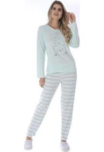 Pijama De Inverno Listrado Victory Feminino - Feminino