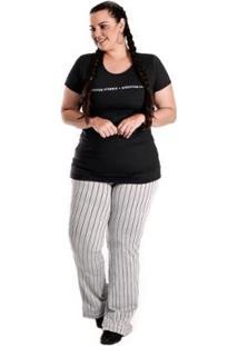 Blusa Plus Size Atrevyda Light Estampa Frente Flex Feminina - Feminino