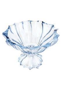 Centro De Mesa Wolff Paradise Cristal 28X20Cm Azul