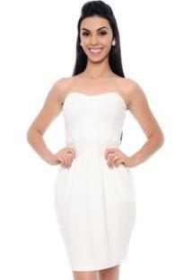 Vestido B'Bonnie Tomara Que Caia Melissa - Feminino-Off White