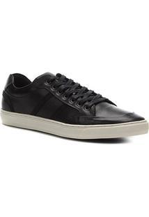 Sapatênis Couro Shoestock Clássico Masculino - Masculino-Preto