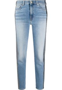 7 For All Mankind Calça Jeans Cropped Roxanne - Azul