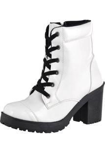 Bota Cr Shoes Zíper Easy Branca