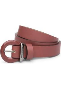 Cinto Cintura Quadril Skinny Fivela Com Pintura Laranja