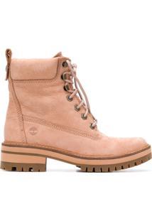 Timberland Ankle Boot 'Courmayeur Valley' De Couro - Neutro