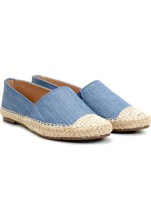 Alpargata Via Uno Jeans Corda Feminina - Feminino-Azul Escuro