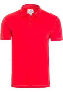 Polo Masculina Jersey - Vermelho
