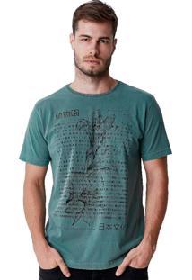 Camiseta Hiatto Estonada Manga Curta Verde