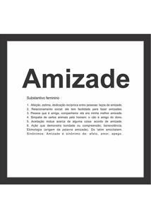 Quadro Amizade 27X27-Kapos - Preto