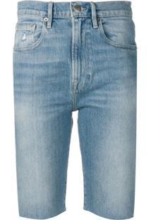 Frame Bermuda Jeans - Azul