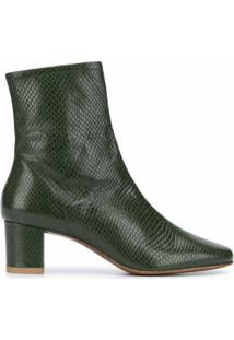By Far Ankle Boot Sofia Com Efeito De Pele De Cobra - Verde