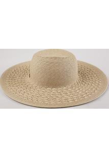 Chapéu Feminino Trançado Bege