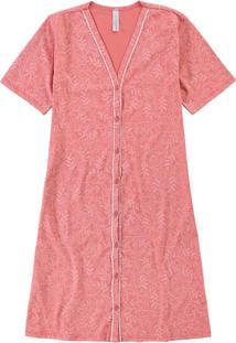 Camisola Rosa Estampada Com Vivo