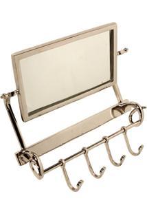Espelho De Parede Decorativo Com Suporte Para Toalhas Selfoss