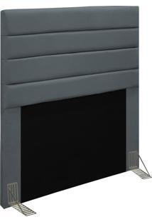 Cabeceira Para Cama Box Solteiro 90Cm Rubi D10 Suede Cinza - Mpozenato - Unico - Dafiti