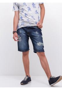 Bermuda Allday Em Jeans Destroyed