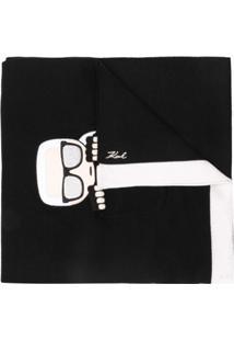 Karl Lagerfeld Cachecol 'Ikonik' - Preto