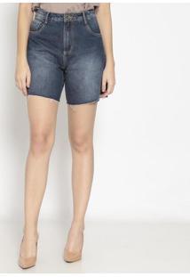 Bermuda Jeans Desfiada - Azulenna