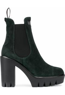 Giuseppe Zanotti Ankle Boot Com Plataforma - Verde