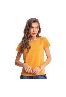 Camiseta Feminina Estonada Malha Premium Caramelo - Area Verde