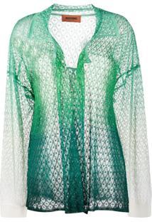 Missoni Cardigan De Tricô - Verde