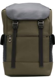 Bottega Veneta Intrecciato Panel Backpack - Verde