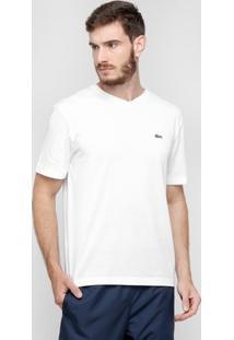 Camiseta Lacoste Gola V Masculina - Masculino-Branco