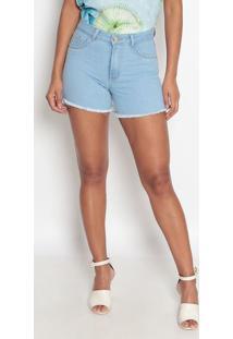 Bermuda Jeans Com Bolsos- Azul Claro- Fio Brasilfio Brasil