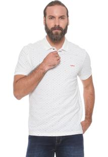 Camisa Polo Colcci Reta Estampada Off-White