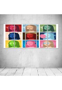 Quadro Decorativo - Monalisa Pop - Composto De 5 Quadros - Multicolorido - Dafiti
